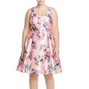 NWT City Chic Floral Print Satin Dress